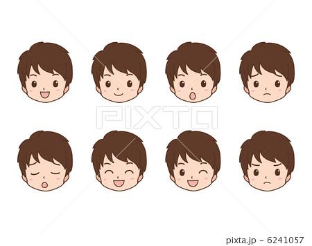人物イラスト素材,男性,案内,ビジネスマン,表情,顔,笑顔,驚く,残念,困る,シンプル