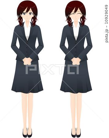りふらん工房 ビジネス女性 全身イラスト